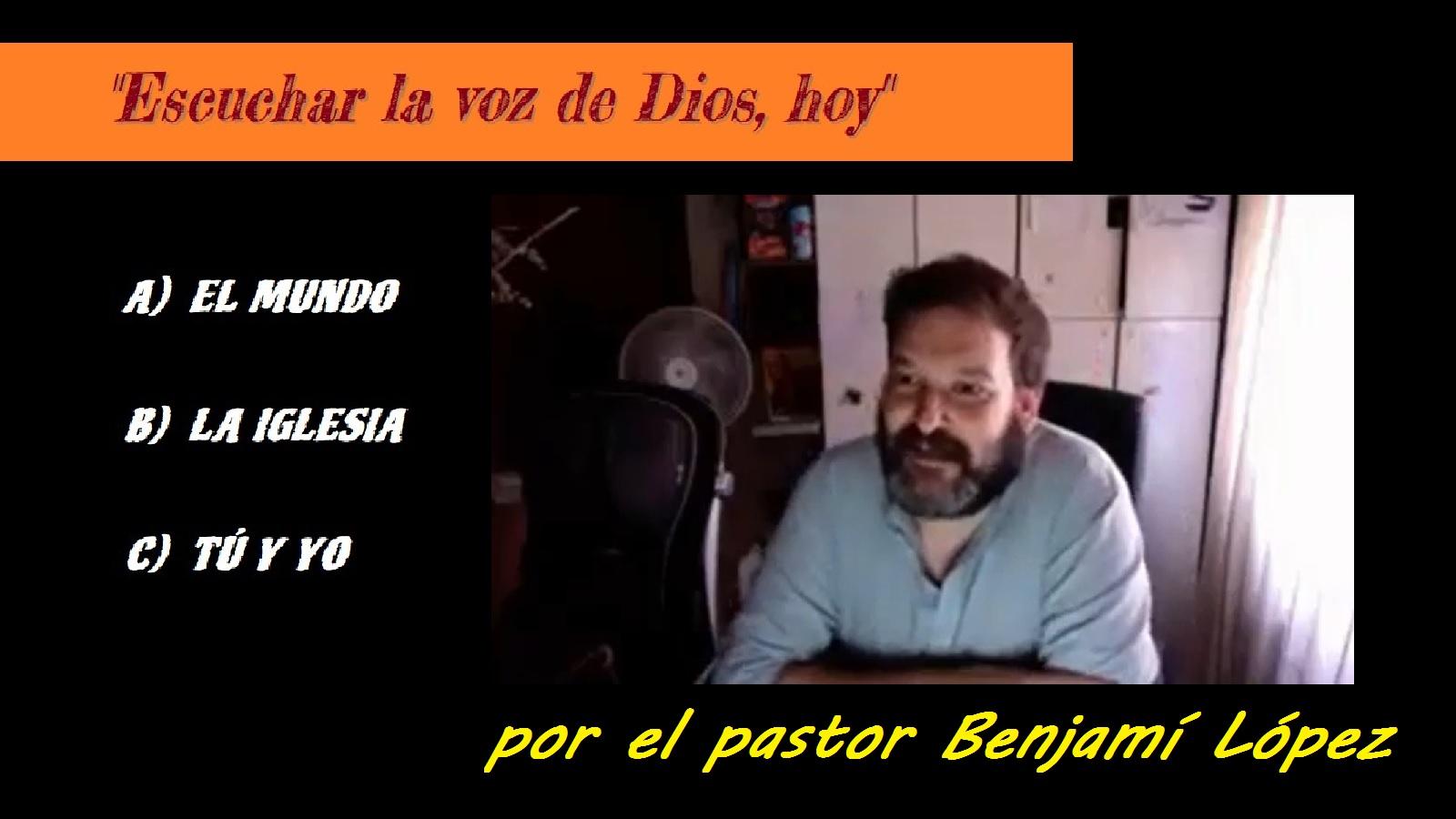ESCUCHAR LA VOZ DE DIOS, HOY (9-08-2020)